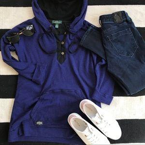 Ralph Lauren Henley hoodie Small